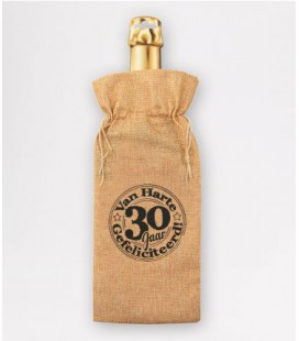 Bottle gift bag - 30 jaar