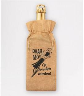 Bottle gift bag -  daar moet op gedronken worden