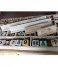 Plankjes voor scrabble letters